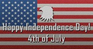 Ευτυχές τέταρτο στις 4 Ιουλίου ημέρας της ανεξαρτησίας του Ιουλίου Στοκ εικόνα με δικαίωμα ελεύθερης χρήσης