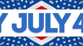 Ευτυχές τέταρτο της τηλεοπτικής ζωτικότητας Ιουλίου απεικόνιση αποθεμάτων