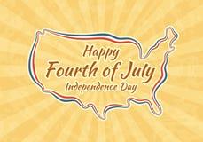 Ευτυχές τέταρτο του Ιουλίου και της ημέρας της ανεξαρτησίας Στοκ Εικόνες