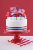 Ευτυχές τέταρτο του κέικ εορτασμού Ιουλίου Στοκ Φωτογραφία