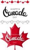 Ευτυχές του Καναδά σχέδιο εγγραφής ημέρας συρμένο χέρι Στοκ φωτογραφίες με δικαίωμα ελεύθερης χρήσης