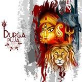 Ευτυχές υπόβαθρο διακοπών φεστιβάλ Durga Puja Ινδία διανυσματική απεικόνιση