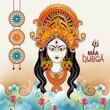Ευτυχές υπόβαθρο διακοπών φεστιβάλ Durga Puja Ινδία απεικόνιση αποθεμάτων