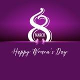 Ευτυχές υπόβαθρο ημέρας γυναικών ` s ελεύθερη απεικόνιση δικαιώματος