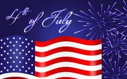 Ευτυχές υπόβαθρο ημέρας της ανεξαρτησίας, 4ο του Ιουλίου Στοκ εικόνα με δικαίωμα ελεύθερης χρήσης
