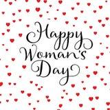 Ευτυχές υπόβαθρο καρδιών ημέρας γυναικών ` s απεικόνιση αποθεμάτων