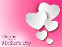 Ευτυχές υπόβαθρο καρδιών ημέρας μητέρων απεικόνιση αποθεμάτων