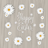 Ευτυχές υπόβαθρο λουλουδιών Πάσχας απεικόνιση αποθεμάτων
