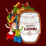 Ευτυχές φεστιβάλ Lohri του υποβάθρου του Punjab Ινδία ελεύθερη απεικόνιση δικαιώματος