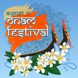Ευτυχές φεστιβάλ Onam της νότιας Ινδίας Κεράλα ελεύθερη απεικόνιση δικαιώματος