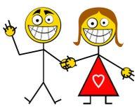 ευτυχές χαμόγελο ζευγών Στοκ Εικόνα