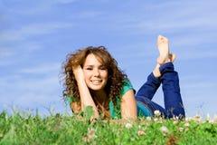 ευτυχές χαμόγελο κοριτσιών Στοκ φωτογραφία με δικαίωμα ελεύθερης χρήσης