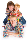 Ευτυχές χαμόγελο οικογενειακού πορτρέτου Στοκ Εικόνα