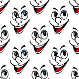 Ευτυχές χαμόγελου σχέδιο υποβάθρου προσώπου άνευ ραφής Στοκ Εικόνα