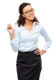 Ευτυχές χαμόγελο επιχειρηματιών αφροαμερικάνων που απομονώνεται στο λευκό  Στοκ φωτογραφία με δικαίωμα ελεύθερης χρήσης