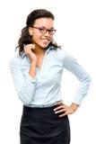 Ευτυχές χαμόγελο επιχειρηματιών αφροαμερικάνων που απομονώνεται στο άσπρο β Στοκ εικόνες με δικαίωμα ελεύθερης χρήσης