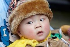 ευτυχές χιόνι μωρών Στοκ Εικόνες