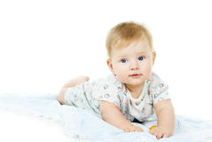 Ευτυχές όμορφο μωρό στοκ εικόνα