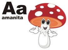 Ευτυχές amanita και abc απεικόνιση αποθεμάτων
