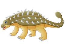 Ευτυχές ankylosaurus κινούμενων σχεδίων Στοκ Εικόνα