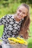Ευτυχές bicyclist Στοκ φωτογραφία με δικαίωμα ελεύθερης χρήσης
