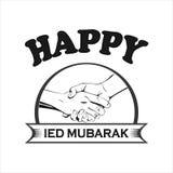 Ευτυχές Eid Μουμπάρακ Στοκ Εικόνα