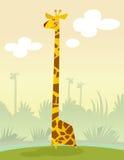 Χαμογελώντας giraffe κινούμενων σχεδίων Στοκ Εικόνες