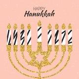 Ευτυχές Hanukkah, εβραϊκό υπόβαθρο διακοπών επίσης corel σύρετε το διάνυσμα απεικόνισης Το Hanukkah είναι το όνομα των εβραϊκών δ Στοκ φωτογραφία με δικαίωμα ελεύθερης χρήσης