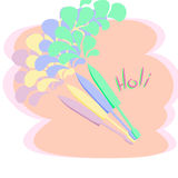 ευτυχές holi επίσης corel σύρετε το διάνυσμα απεικόνισης Στοκ εικόνες με δικαίωμα ελεύθερης χρήσης
