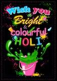 Ευτυχές Holi, φεστιβάλ των χρωμάτων Στοκ φωτογραφία με δικαίωμα ελεύθερης χρήσης