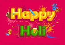 Ευτυχές Holi, φεστιβάλ των χρωμάτων Στοκ Εικόνα