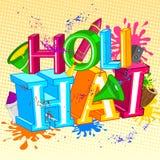 Ευτυχές Holi, φεστιβάλ των χρωμάτων Στοκ Εικόνες