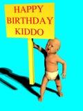 ευτυχές kiddo γενεθλίων διανυσματική απεικόνιση