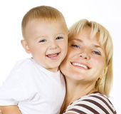 ευτυχές mather μωρών Στοκ εικόνα με δικαίωμα ελεύθερης χρήσης