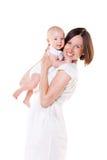 Ευτυχές mom με το μωρό της Στοκ Εικόνες