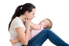 Ευτυχές mom με το μωρό της Στοκ Φωτογραφίες