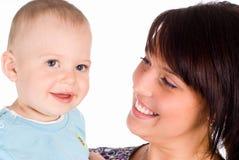 ευτυχές mom μωρών Στοκ Φωτογραφίες
