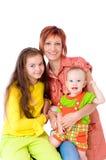 ευτυχές mum δύο παιδιών Στοκ φωτογραφία με δικαίωμα ελεύθερης χρήσης