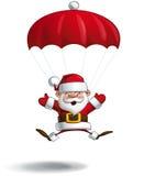 Ευτυχές Santa - ανοικτά χέρια αλεξίπτωτων Στοκ Εικόνα