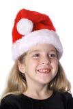 ευτυχές santa καπέλων παιδιών Στοκ εικόνα με δικαίωμα ελεύθερης χρήσης