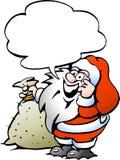 Ευτυχές Santa με έναν σάκο Στοκ Φωτογραφίες