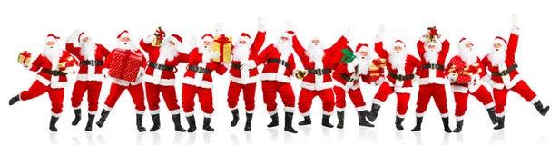 ευτυχές santa Χριστουγέννων Στοκ Εικόνες