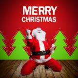 ευτυχές santa Claus Στοκ εικόνα με δικαίωμα ελεύθερης χρήσης