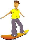 Ευτυχές Skateboard αγόρι απεικόνιση αποθεμάτων