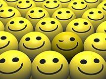 ευτυχές smiley πλήθους smileys που κλείνει το μάτι Στοκ Εικόνα