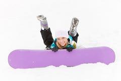 Ευτυχές snowboarder στοκ φωτογραφίες