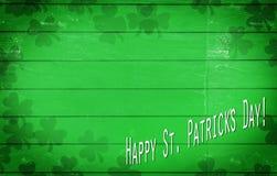 Ευτυχές ST Patrick& x27 σημείωση ημέρας του s με το διάστημα αντιγράφων στοκ εικόνα