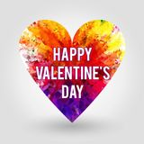 Ευτυχές Valentine&#x27 ημέρα του s - κάρτα στοκ εικόνες