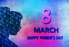 Ευτυχές women& x27 ημέρα του s απεικόνιση αποθεμάτων
