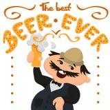 Ευτυχής Άγγλος με το ποτήρι της νόστιμης μπύρας Στοκ εικόνα με δικαίωμα ελεύθερης χρήσης